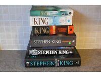 Stephen King Books x 6