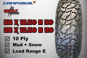 HOLIDAY SEASON SALE !!! MUD TIRES AND ALL TERRAINS !!! 33 OR 35 INCH --- $799 ALL 4 !!!