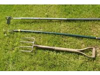 Garden Cultivator, long handle hoe and fork