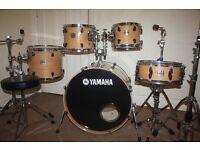 "Yamaha Stage Custom Advantage Nouveau Natural 5 Piece Drum Kit (22"" Bass) + Zildjian ZXT Cymbal Set"