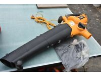 JCB 2400W Leaf Blower and Garden Vac with 10M Power Supply - Unused
