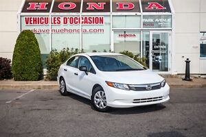 2012 Honda Civic DX * Manuelle * Bas KM * Retour de location