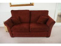 Beautiful Maroon/Deep Red 3 Piece Sofa Set with Deep Yellow Pattern Detail