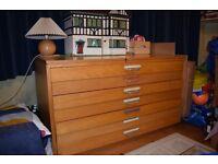 Vintage A1 Plan chest ex architect's office £150