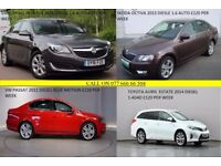 PCO CARS HIRE RENT-DIESEL +HYBIRD LOW MILEAGE CLEAN CARS UBER READY