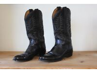 Cowboy boots, all leather. SIZE 9