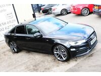 2013 AUDI A6 2.0 TDI S LINE AUTO 175 BHP SALOON *BLACK EDITION* (WARRANTY & FINANCE)