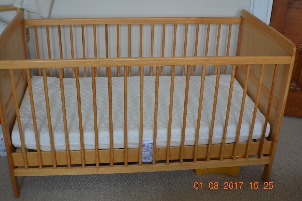 Baby Cot/Cot Bed + Mattress (+Free First Years