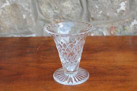 Vintage Crystal Vase Thomas Webb and Sons 1950 - 1966 Hand Cut