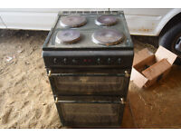 Electric cooker green double oven 4 hobs CB1 collect £20