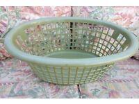 Plastic Laundry Basket, Good Condition, Histon