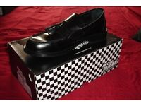 Mens Black Tassled Selecter Ikon Loafers Mod Skin Ska Soul Size 10 Excellent £35