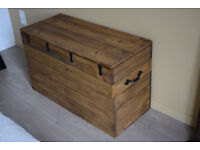 New CHEST large antique look - storage, toy box, coffee table, seating, bench