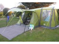 Vango Airbeam Solaris 400, with footprint and matching Side Awning in very good condition