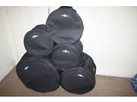 Gear 4 Music Padded Drum Kit Cases - Five Piece Set 12/13/16/22 + 14 Snare