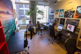 2 x desk spaces in friendly creative studio, central Bristol