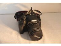 Canon EOS550D camera with 18-55 mm lens