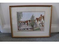 Kersey Suffolk Watercolour.