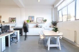 Desk space to rent in creative studio - Vyner Street - East London