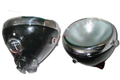 """6"""" Lucas Type MU42 Flat Frost Glass Headlight Panther Triumph Ariel Douglas ECs"""