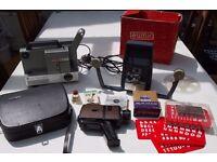 Super 8 Chinon 670 Camera, Eumig Mark 501 Projector, Aico Editor & Accessories