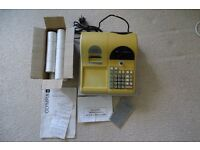 Olympia CM 725 shop till cash register with 19 till rolls, full working order with instructions
