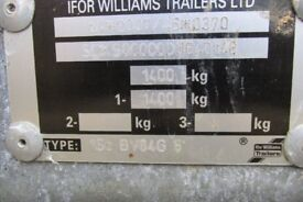 ifor williams bv84g box van trailer with ramp/barn back door