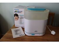 Philips Avent Steriliser 3 in 1 Baby Bottle complete with box Electric Steam