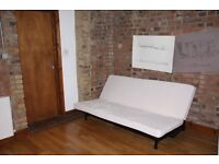 IKEA white Sofa bed, three-seats, brand new