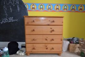Pine nursery furniture in excellent condition.