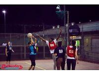 Social netball league in Waterloo