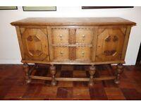 Antique Light Oak Sideboard