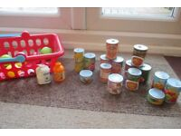 Early Learning Centre Shopping Basket & Food Items
