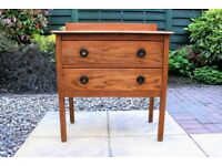Vintage 1930s Solid Oak Chest of 2 Drawers