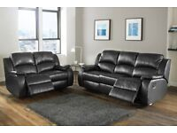 BRAND NEW CHICAGO RECLINER 3+2 SEATER SOFA SET IN BROWN/BLACK COLORS, AVAILABLE IN CORNER SOFA SET