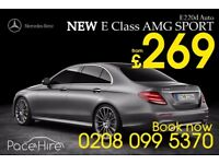 Mercedes e class uber ready in London | Car Hire Services