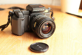 Pentax SFXn 35mm film camera and 2 Sigma lenses