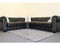 Brand new Black Leather Sofa