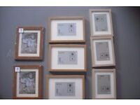 28 picture frames for sale, mostly IKEA RIBBA -varying sizes and colours, good as new, some packaged