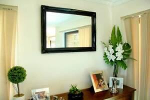 Medium ornate black mirror 90x65cm