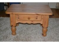 Solid Pine Coffee Table with Drawer