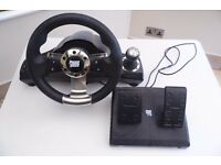 POWER RACER 270 XBOX 360 RACING WHEEL AND PEDALS
