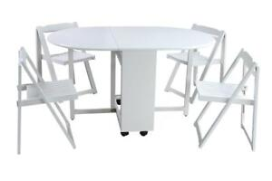 Minto Five Piece Dining Set In White