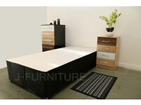 Brand new 2ft6 or 3ft divan bed base only.4 colours! storage,headboard and mattress optional