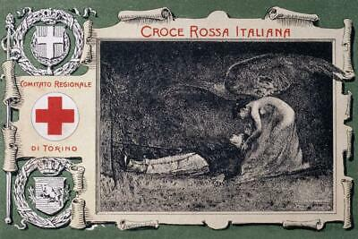 Italian Red Cross Vintage Art Print Laminated Dry Erase Sign Poster 36x24