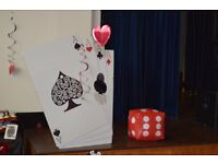 Large Playing Card Stand/ Display - Party/Wedding Decoration x2