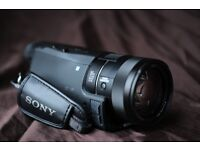 SONY FDR-AX100E AX100 4K video handycam camcorder camera