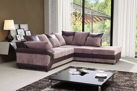 **AMAZING OFFER** **70% SALE** Dino Italian Cord Fabric Corner Suite or 3 and 2 Sofa Set -SAME DAY