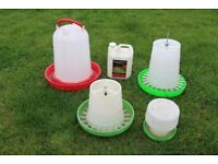 Chickens Feeder, Water and Mite Kill