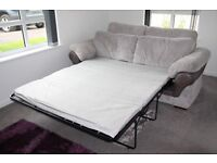 Sofa, 3 seater grey sofa bed and footstool from Harveys (non-smoking home)